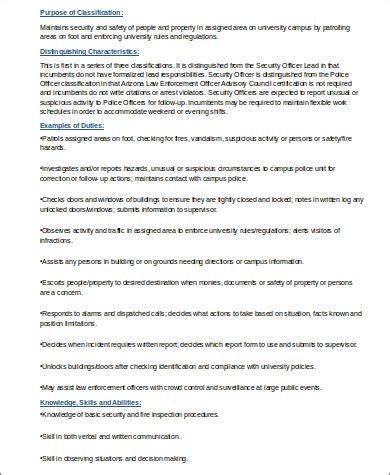 resume format doc for security officer 8 sle security officer resumes sle templates