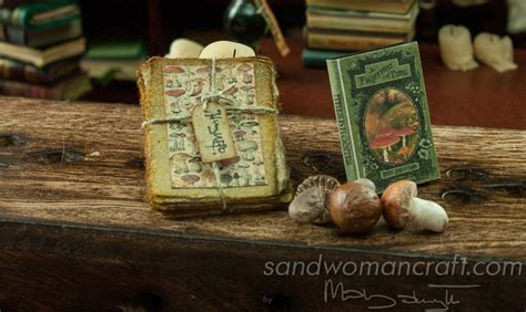 Handmade Miniatures - dollhouse miniatures sets books stacks of aged papers