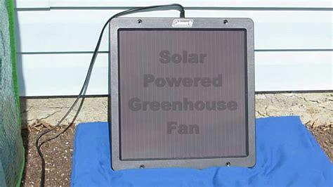 solar powered greenhouse fan solar powered greenhouse fan test youtube