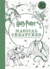 harry potter coloring book by scholastic harry potter magical creatures postcard coloring book by