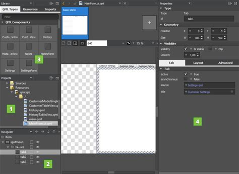 qt designer layout in splitter using qt quick ui forms qt creator manual