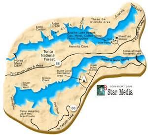 arizona fishing map apache lake az my