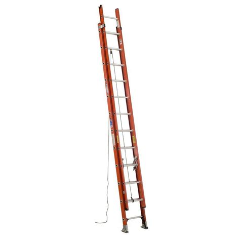 werner 24 ft fiberglass extension ladder with 300 lb
