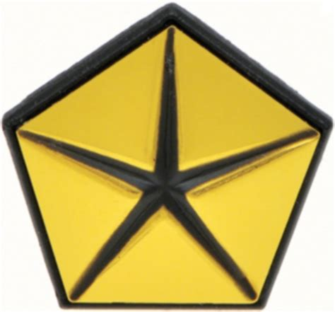 chrysler pentastar emblem 1962 1972 mopar penta start pentastar fender emblem gold