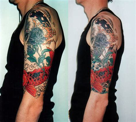 funny tattoos for men sleeve designs half sleeve designs for