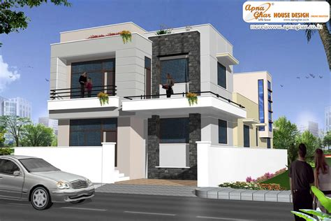 duplex designs modern duplex 2 floor house design area 198m2 9m x