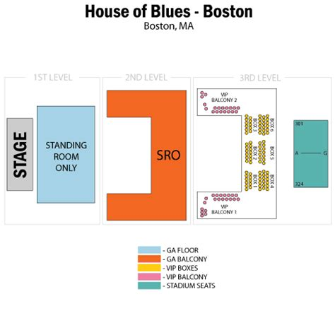 House Of Blues Chicago Seating Chart Car Interior Design