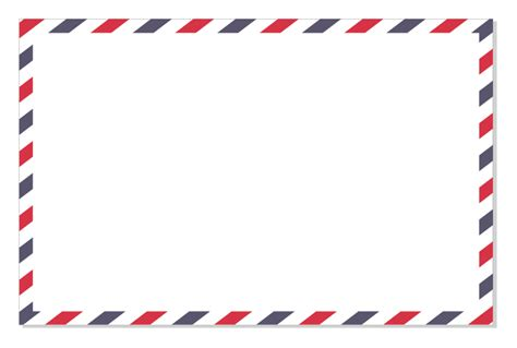 Envelope Border Pattern | how to make an airmail border in coreldraw