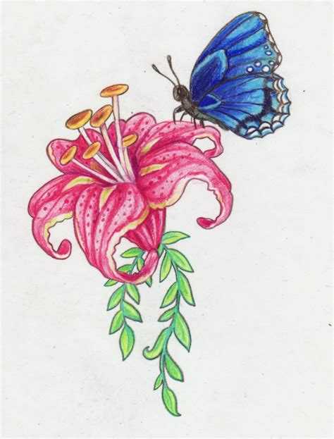 design flower and butterfly flower and butterfly design by kittencaboodles on deviantart