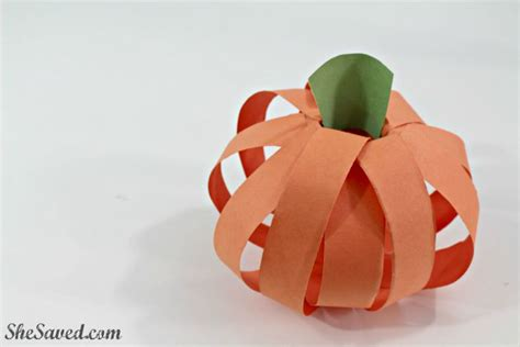 Pumpkin Construction Paper Crafts - fall craft easy paper pumpkin craft shesaved 174