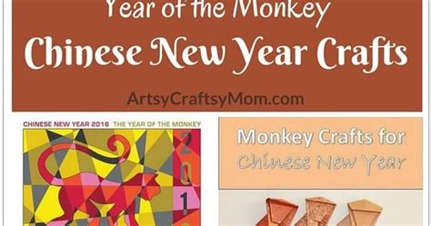 new year of the monkey crafts year of the monkey new year crafts monkey craft