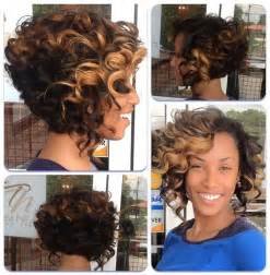 short ombre curly hairstyle for black women hairstyles