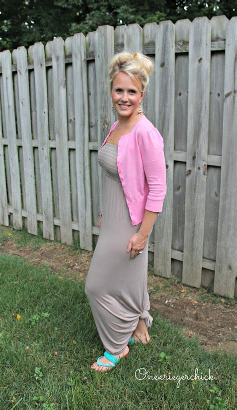 Maxi Dress To Tie At Bottom by What I Wore Wednesday Mocha Pink Onekriegerchick