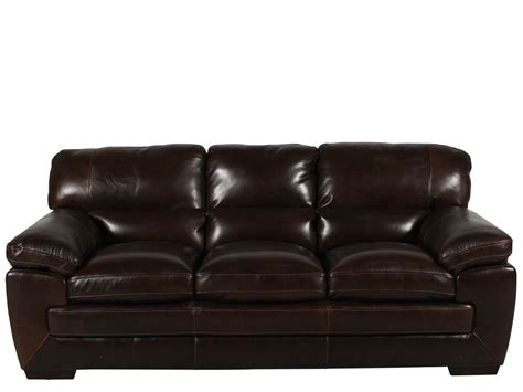 Simon Li Leather Sofa Simon Li Leather Longhorn Black Oak Sofa Mathis Brothers Furniture