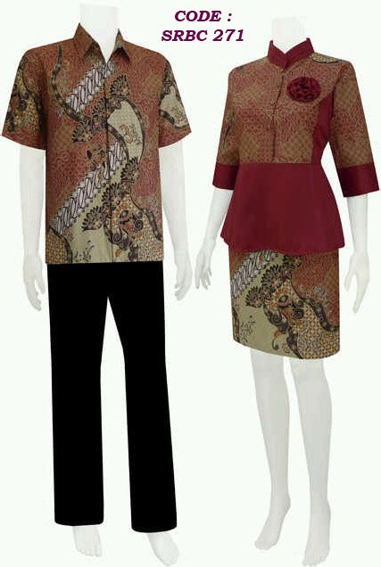 model gambar batik gambar model baju batik kerja wanita terbaru