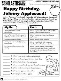 printable appleseed targets johnny appleseed close reading and activities activities