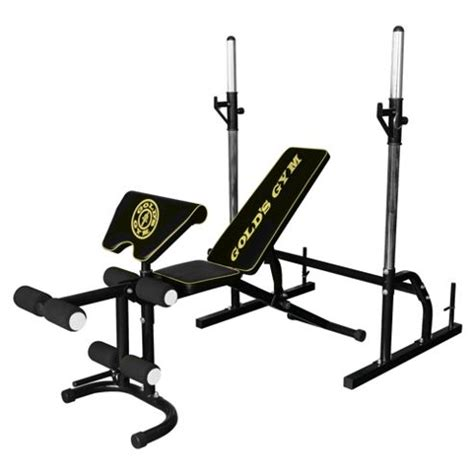 golds gym bench and squat rack buy gold s gym deluxe weight bench with squat rack from