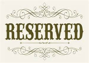 reserved seating signs template wedding seating reserved sign 5 x 7