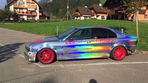holographic car bmw m5 holographic wrap driftcar andreas distel