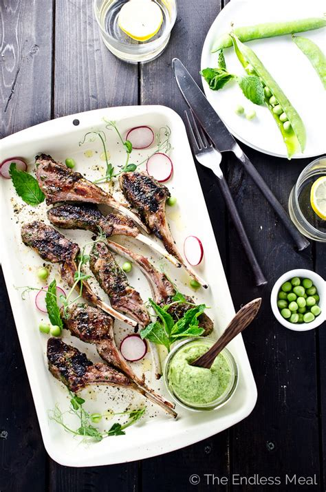 Rack Of With Mint Pesto by Grilled Rack Of With Fresh Pea And Mint Pesto