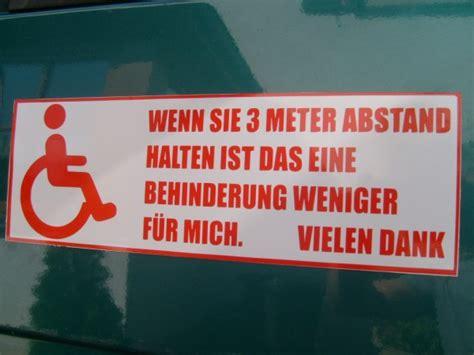 Aufkleber Rollstuhlfahrer Abstand Halten by Magnetschild Rot 10x30 Cm Rollstuhlfahrer 3 Meter Abstand