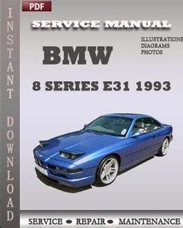 car owners manuals free downloads 1993 bmw 8 series navigation system bmw 8 series e31 1993 service manual download repair service manual pdf