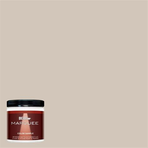 behr marquee 8 oz mq2 50 gravelstone interior exterior paint sle mq30016 the home depot