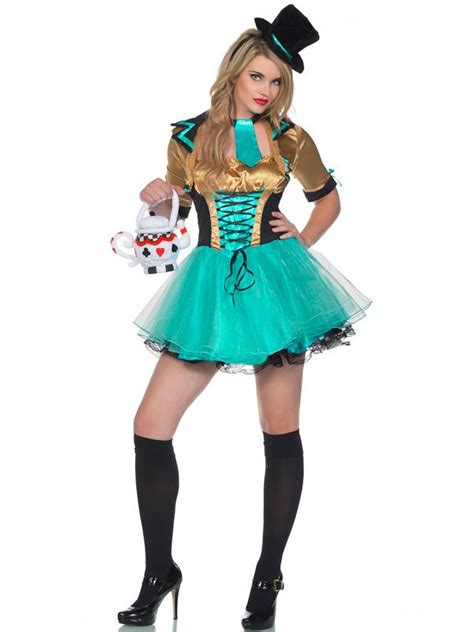 Mad Hatter Costumes   Women's Tea Party Mad Hatter ... Female Mad Hatter Costume