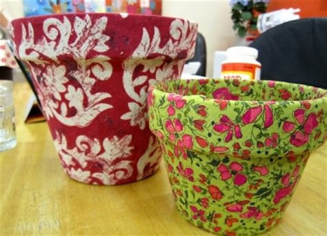 how to decorate a pot at home 14 ideas for flower pots decoration with fabric diy and