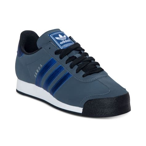 adias sneakers lyst adidas samoa sneakers in blue for