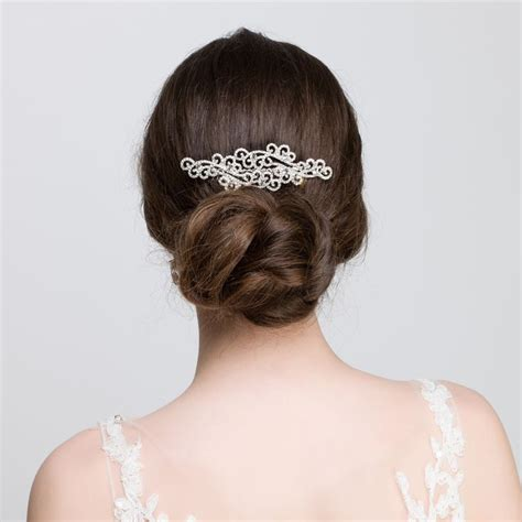 Wedding Hair Accessories Edinburgh by Diamant 233 Deco Hair Combs Wedding
