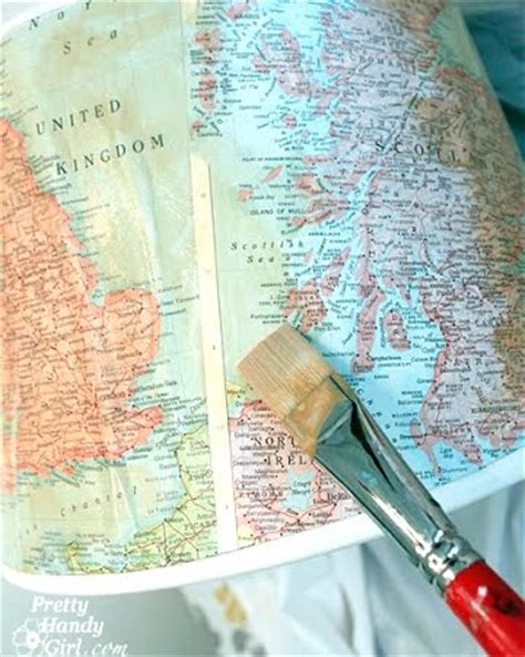 Decoupage Map - sea map decoupage ideas for canvas dressers letters