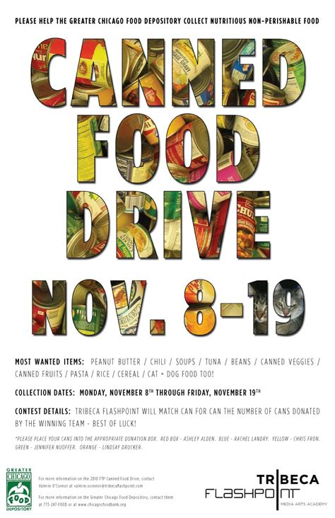 canned food drive flyer template foggyland a from subeternal design canned food drive poster