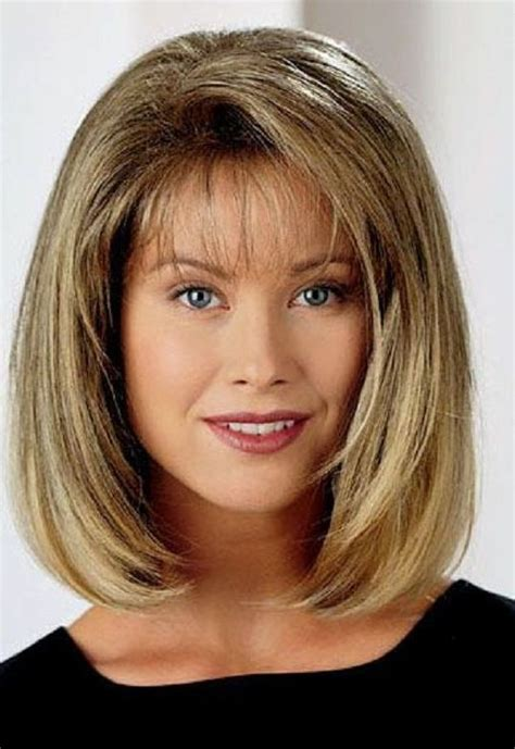 haircuts for women over 40 with bangs medium length hairstyles for women over 40 medium hair with bangs