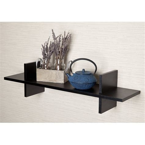187 Top 16 Black Floating Wall Shelves Of 2016 2017 Review Floating Shelves Black