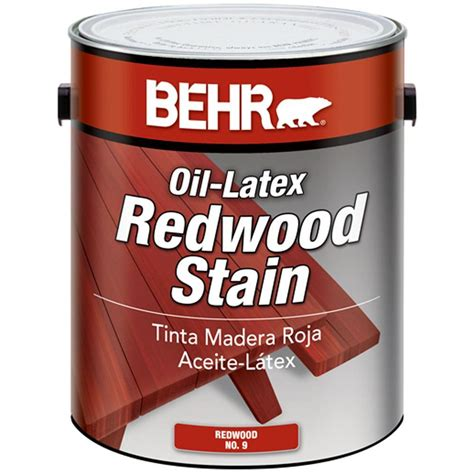 behr  gal redwood oil latex stain exterior solid tinted