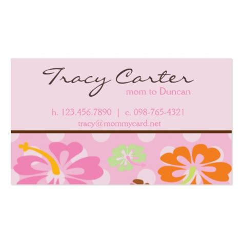 Hibiscus Card Template by Hawaiian Card Sided Standard Business Cards