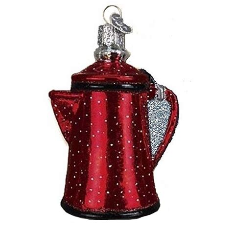 Red Campfire Coffee Pot Old World Christmas Ornament