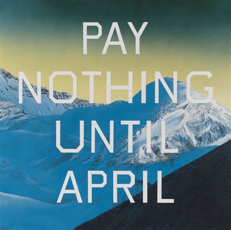 ed ruscha pay nothing until april edward ruscha wikiart org