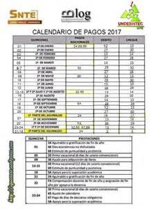 Calendario De Pagos Calendario De Pagos 2017 Homologados El Espacio