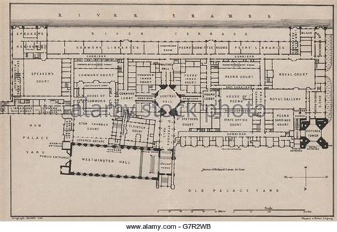 Palace Of Westminster Floor Plan by Houses Parliament Palace Westminster Vintage Stock Photos