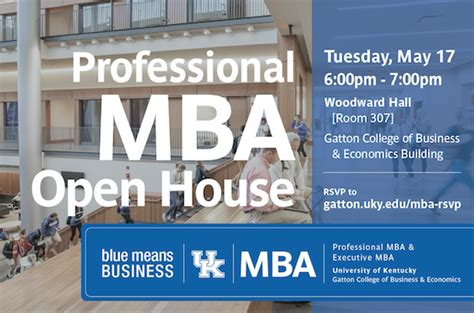 Of Kentucky Gatton Mba Program by Gatton College Of Business Hosting Professional Mba Open