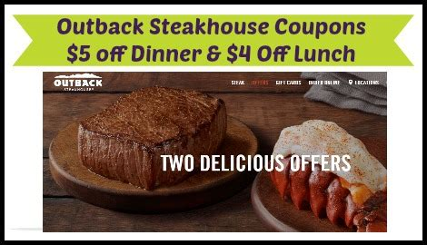 Outback Steakhouse Printable Gift Card - printable coupon outback steakhouse 2017 2018 best cars reviews