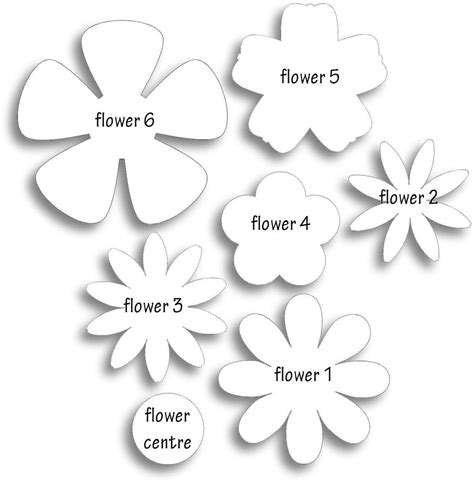 5 ways to paper flower crafting flower crafts template