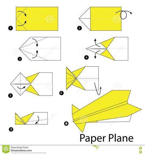 Steps For A Paper Airplane - origami get exclusive gift with this page limited time