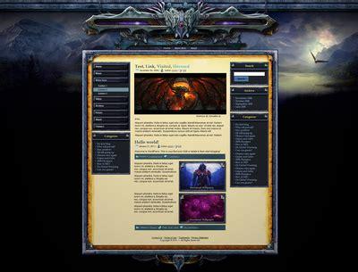drupal themes gaming free lord drupal theme