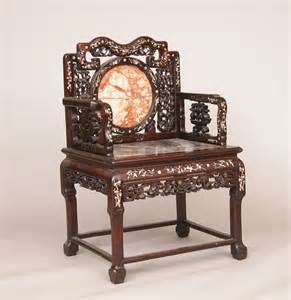 Oriental Rug Auction Chinese Arm Chair With Mother Of Pearl Inlay And Marble