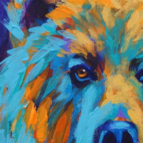 free animal painting paintings by theresa paden grizzly painting in