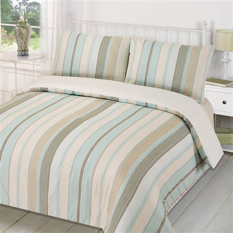 cream bedding duvet quilt cover with pillowcase bedding set tenby stripe
