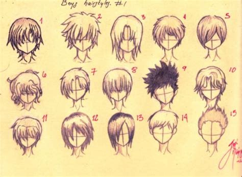 drawing 6 boy hairstyles by marryrdbsongs youtube how to draw anime boys hair sketch guide pinterest